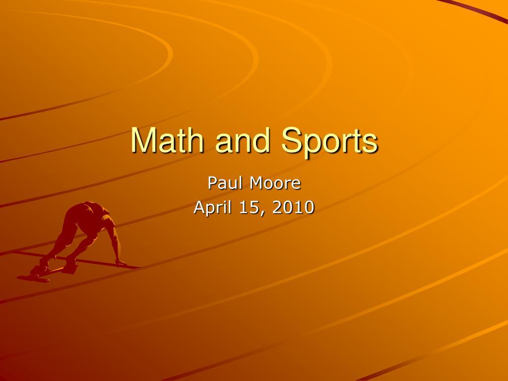 math and sports l.