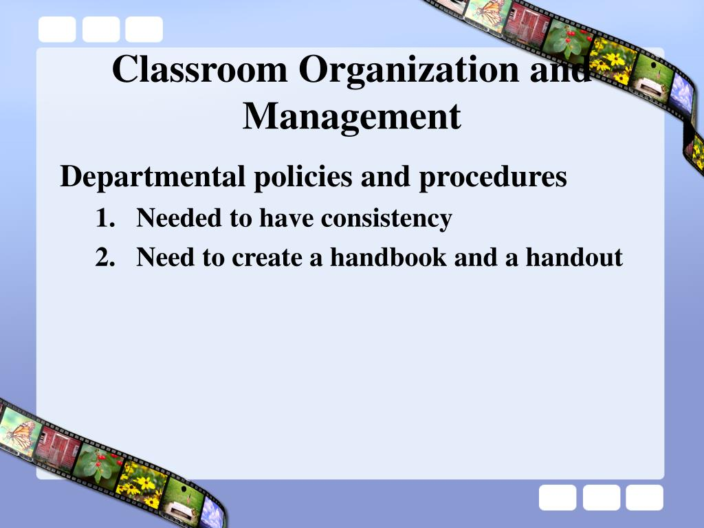 classroom organization and management l.