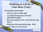finishing an activity or class ideas cont38