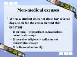 non medical excuses