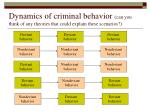dynamics of criminal behavior can you think of any theories that could explain these scenarios