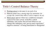 tittle s control balance theory28