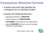 consequence behavioral contracts