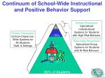 continuum of school wide instructional and positive behavior support