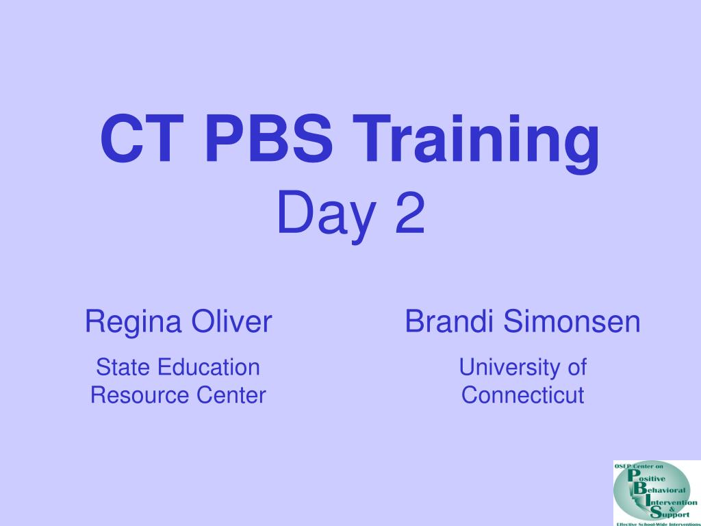 ct pbs training day 2 l.