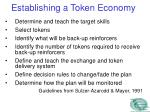 establishing a token economy