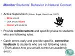 monitor students behavior in natural context