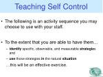 teaching self control