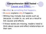 comprehension skill tested cause and effect te112