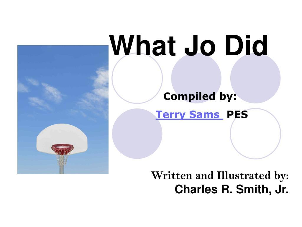 what jo did l.