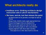 what architects really do