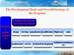 the development mode and overall strategy of the program20