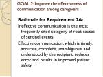 goal 2 improve the effectiveness of communication among caregivers7