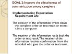 goal 2 improve the effectiveness of communication among caregivers8