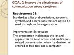 goal 2 improve the effectiveness of communication among caregivers9