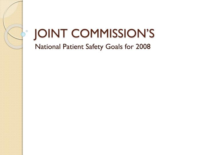 joint commission s n.