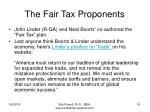 the fair tax proponents