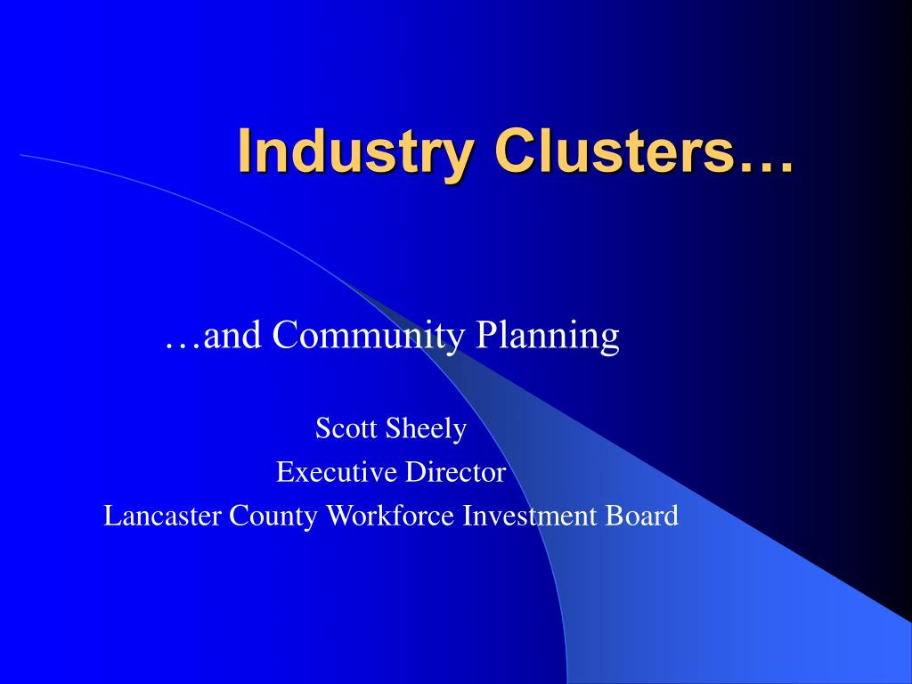 industry clusters l.