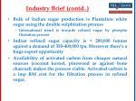 industry brief contd