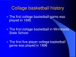 collage basketball history