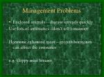 management problems