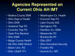 agencies represented on current ohio ah imt