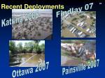 recent deployments