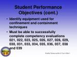 student performance objectives cont5
