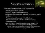 song characteristics