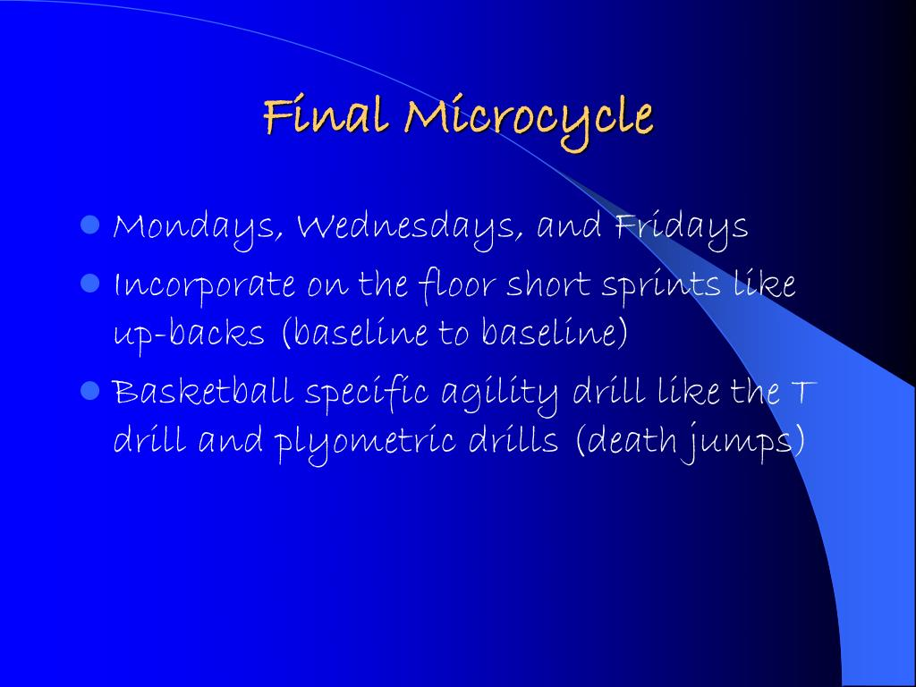 Final Microcycle