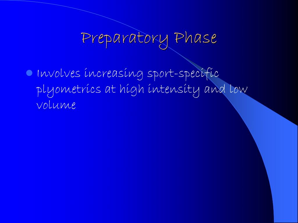 Preparatory Phase