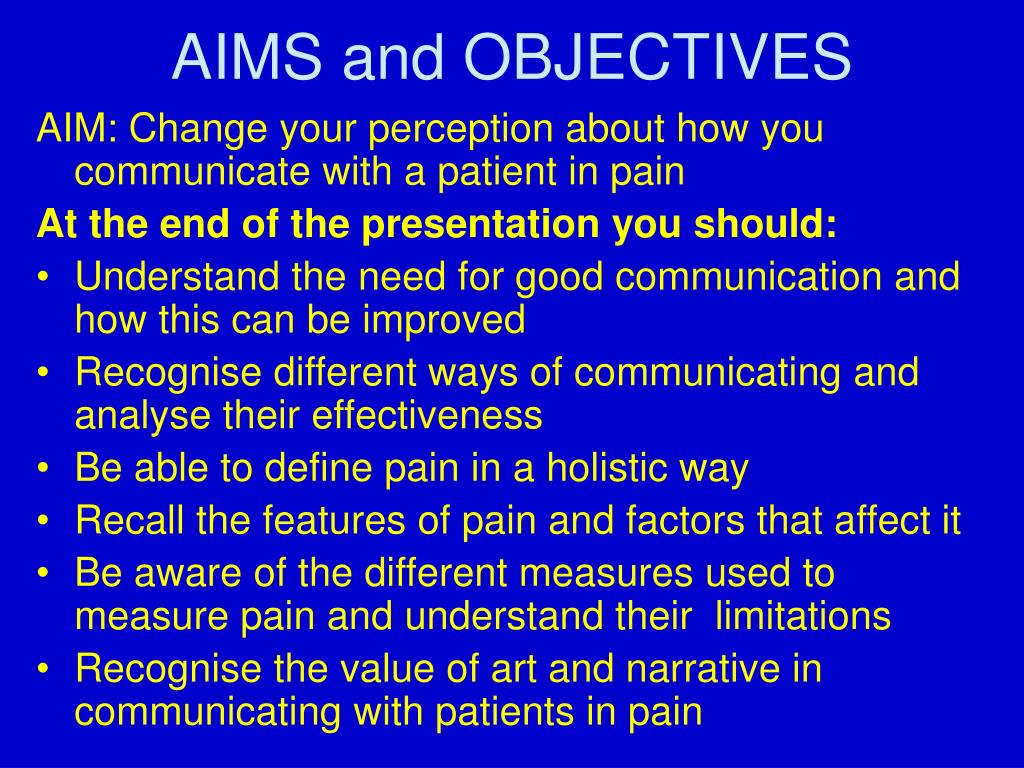 aiims and objectives