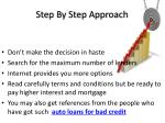 step by step approach