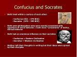 confucius and socrates