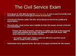 the civil service exam
