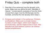 friday quiz complete both