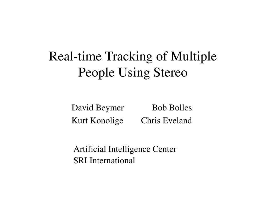 real time tracking of multiple people using stereo l.