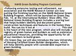 nahb green building program continued