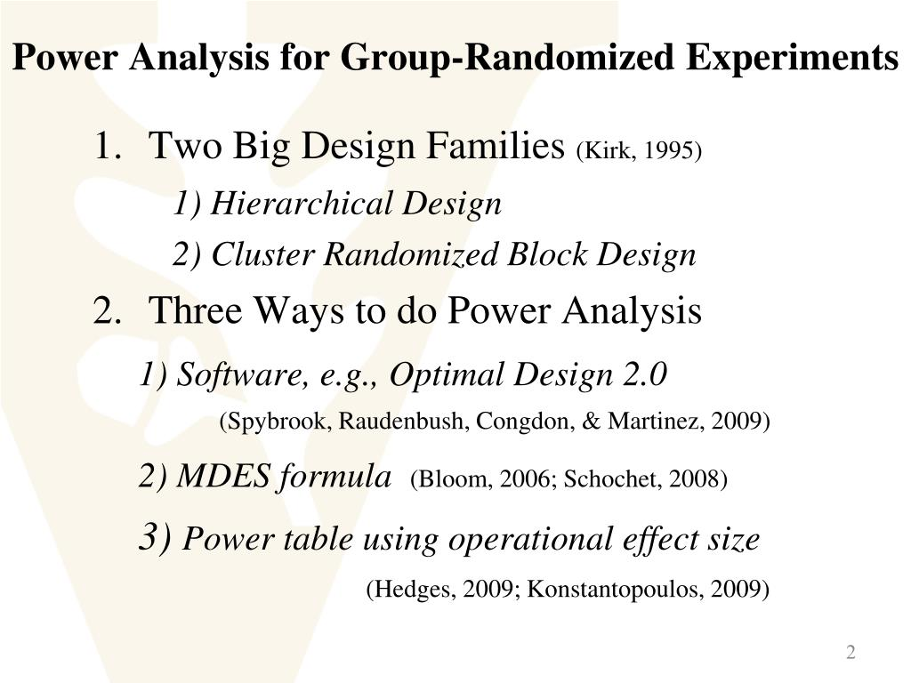 Ppt The Power Of Pairing In Cluster Randomized Block Designs A Monte Carlo Simulation Powerpoint Presentation Id 238882