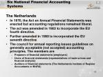 six national financial accounting systems10