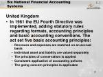 six national financial accounting systems12