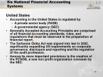 six national financial accounting systems14