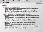 six national financial accounting systems4