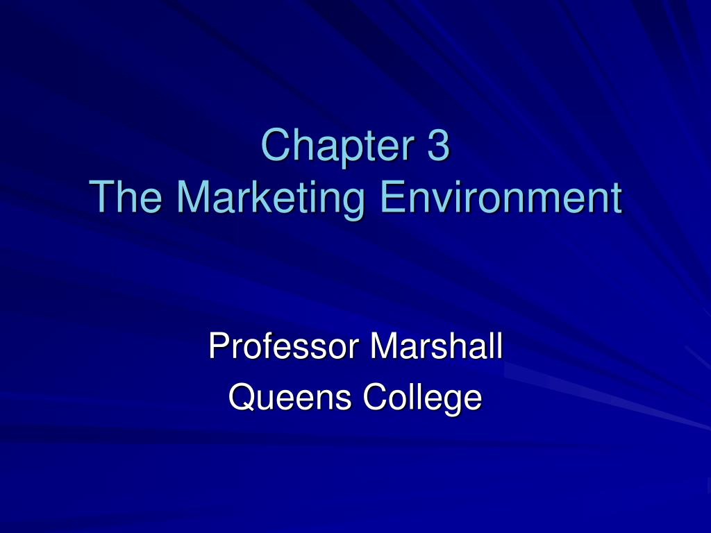 chapter 3 the marketing environment l.