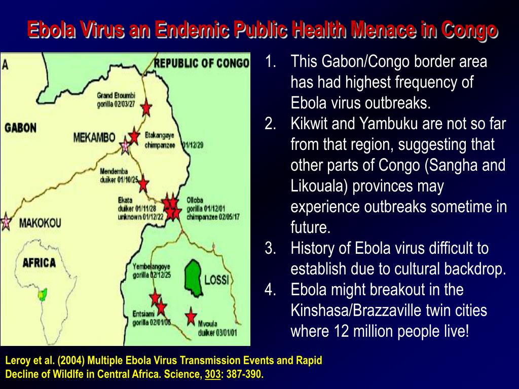 ebola virus an endemic public health menace in congo l.