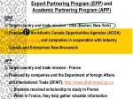 export partnering program epp and academic partnering program app6