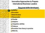 innovative approaches to prepare international business leaders15