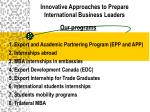 innovative approaches to prepare international business leaders4