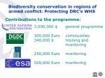 biodiversity conservation in regions of armed conflict protecting drc s whs15
