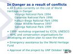 in danger as a result of conflicts13
